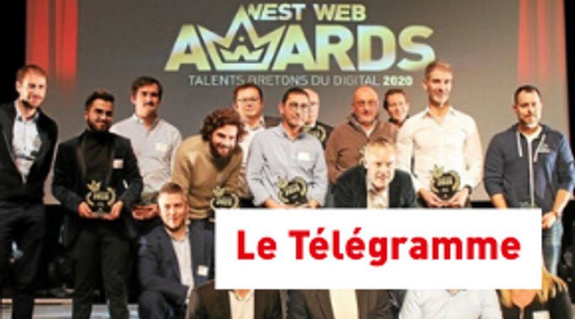 """EcoTree primée """"Meilleure équipe"""" à Brest lors des West Web Awards"""