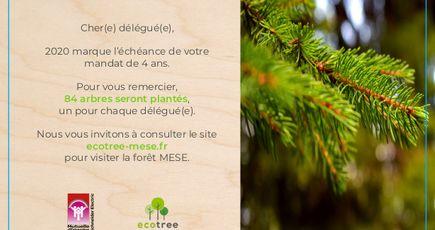 MESE remercie ses délégués avec des arbres